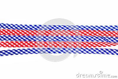 Checkered decorative ribbons
