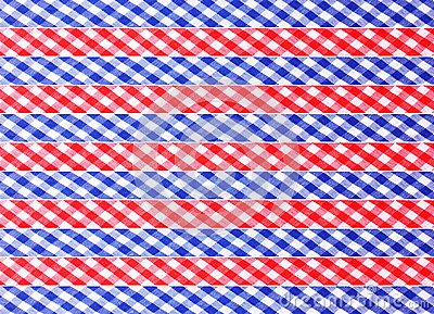 Checkered decorative ribbons