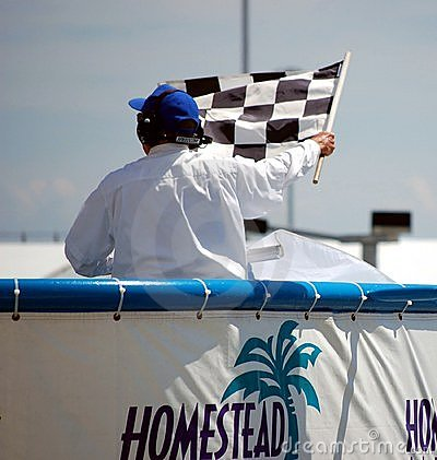 Checkered Flag Editorial Photo