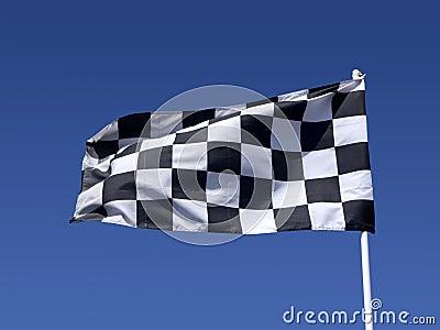 A checkered flag.