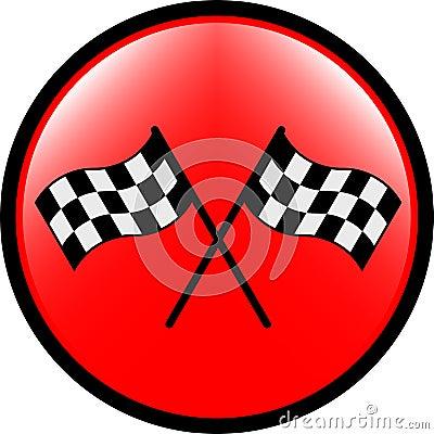 Checkered flag button