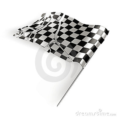 Checkered flag destroyed