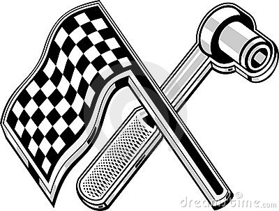Checkered flag socket wrench