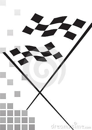 Checkered flag - vector