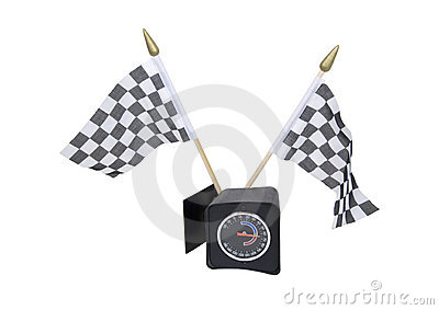 Checkered flags and guage