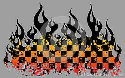 Checkered flames