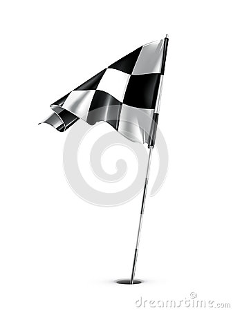 Checkered golf flag