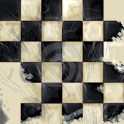 Checkered Grunge Background