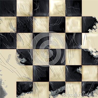 Checkered Grunge Background