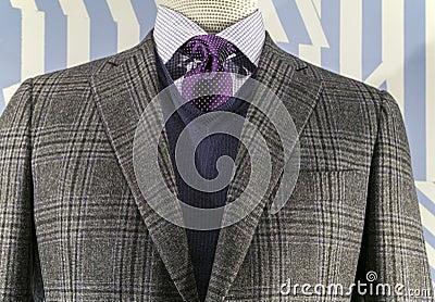 Checkered Jacket, Blue Sweater (horizonta