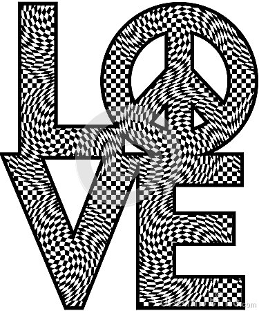 Checkered LOVE=Peace