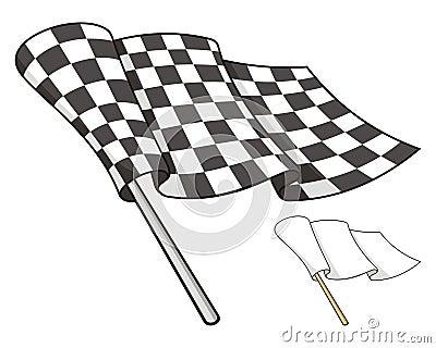 Checkered Markierungsfahne