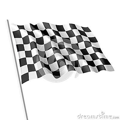 Checkered Markierungsfahne. Vektor.