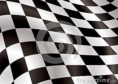 Checkered Markierungsfahnengebrüll