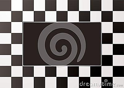 Checkered mono picture frame