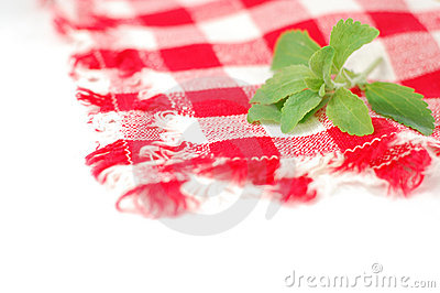Checkered napkin and stevia