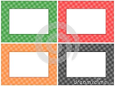Checkered Pattern Frame Set