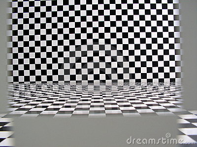 Checkered pattern room