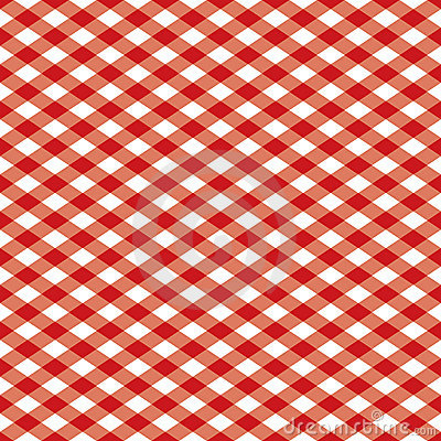 Free Checkered Pattern_Red And White Stock Image - 3801281