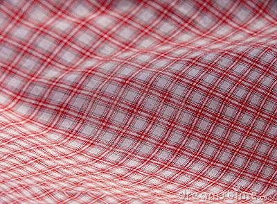 Checkered picnic cloth. Red.