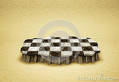 Checkered  podium