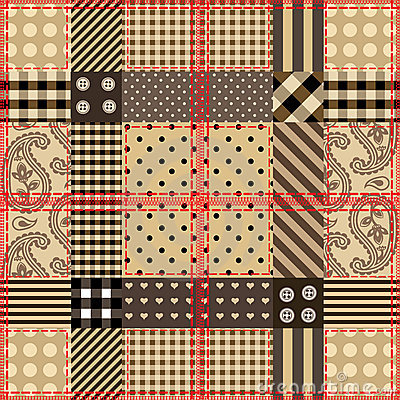 Checkered quilting design.