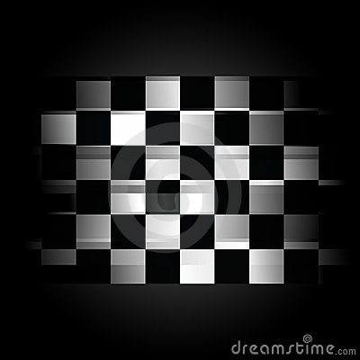 Free Checkered Racing Flag On Black Background Stock Photo - 13446030