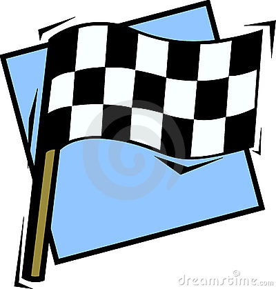 Checkered racing flag vector illustration
