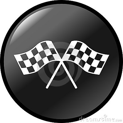 checkered racing flags vector button