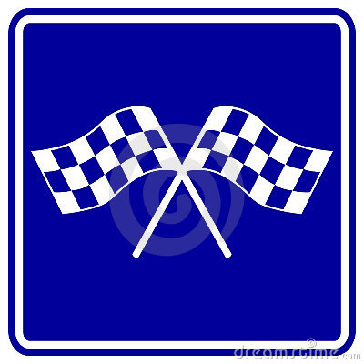 checkered racing flags vector sign