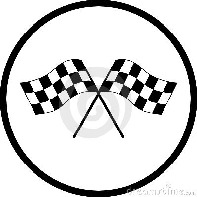 checkered racing flags vector symbol