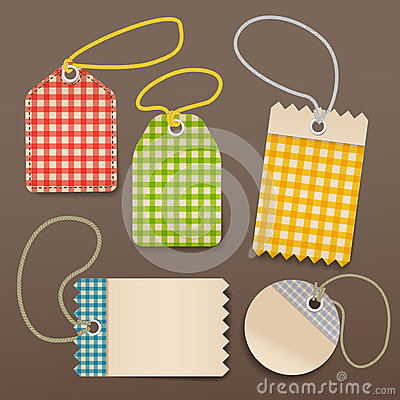 Checkered shopping tags