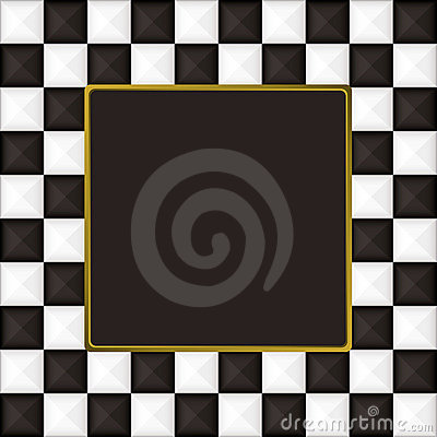 Checkered square picture picture frame