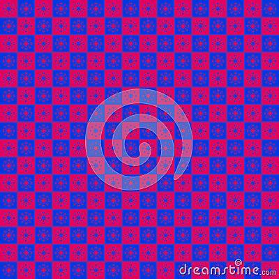 Checkered Star Pattern