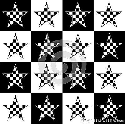 Checkered stars