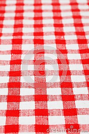 Checkered tablecloth