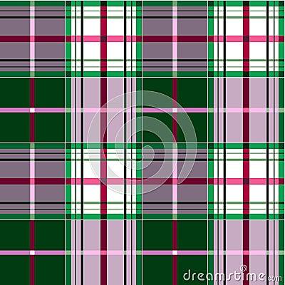 Checkered tartan pattern
