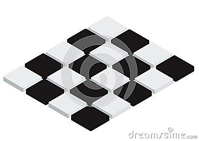 Checkered Tiles - vector