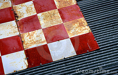 Checkered Tin Texture 2 Stock Photo