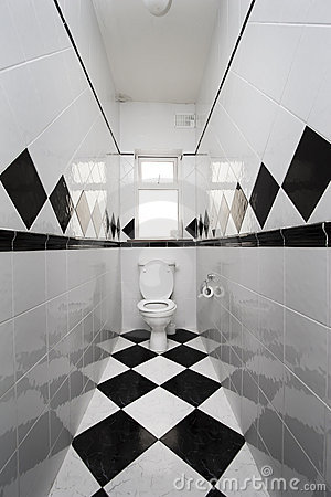 Checkered toilet