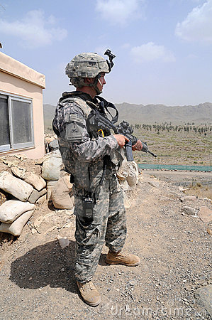 Checking/observation point on the Afghan border 2 Editorial Stock Photo
