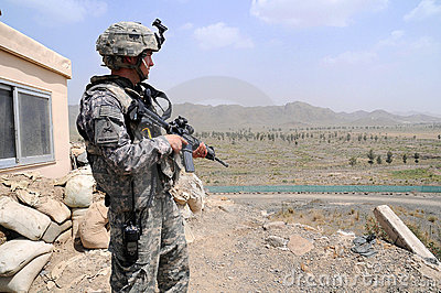 Checking/observation point on the Afghan border 3 Editorial Stock Image