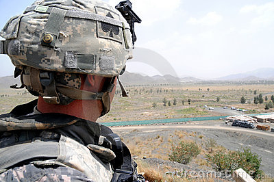 Checking/observation point on the Afghan border 5 Editorial Photo