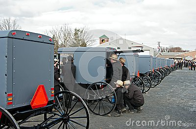 Checking Out the Newest Buggies Editorial Stock Image