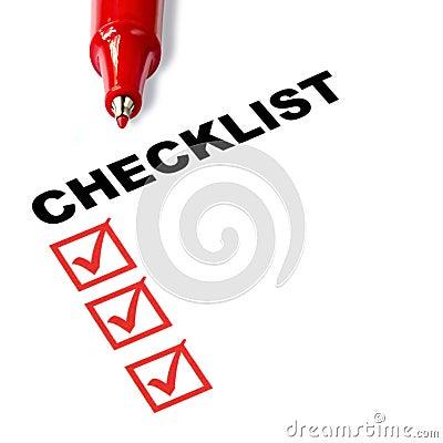 Free Checklist Royalty Free Stock Photo - 14855085