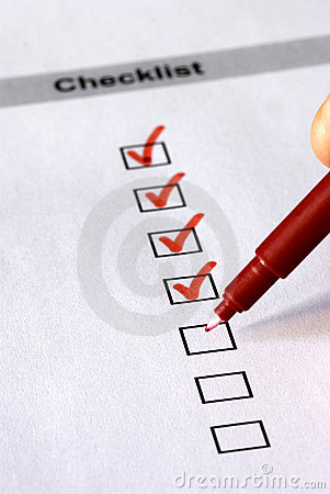 Checklist Form Royalty Free Stock Photos - Image: 11282818