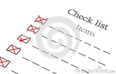 Checklist Item Paper