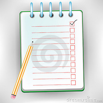 Checklist Notebook Royalty Free Stock Images - Image: 22310289