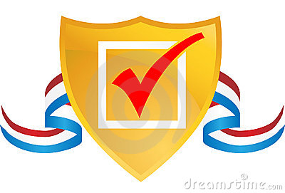 Checkmark Shield with Ribbon