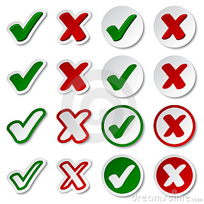 Checkmark stickers